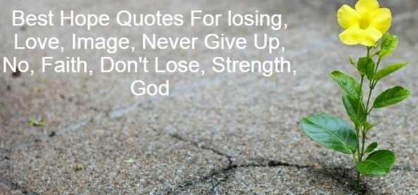 Best Hope Quotes For losing, Love, Image, Never Give Up, No, Faith, Don't Lose, Strength, God