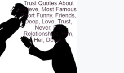 Trust Quotes About Believe, Most Famous, Short Funny, Friends, Deep, Love, Trust, Never, For Relationships, Him, Her, Doubt