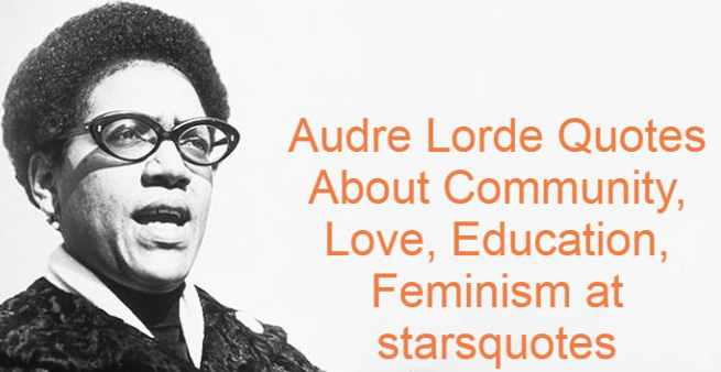 """Audre Lorde, born Audrey Geraldine Lorde, was an American artist, feminist, lesbian, librarian, and civil rights activist from February 18, 1934 to November 17, 1992. She was a self-described """"black, lesbian, mother, warrior, poet,"""" dedicating her life and creative talent to confronting and addressing racism, sexism, classism, and homophobia injustices. She is best known as a poet for her technical mastery and emotional expression, as well as for her poems that express anger and indignation at the civil and social injustices she observed throughout her life."""